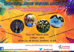 Carnival taster workshop flyer